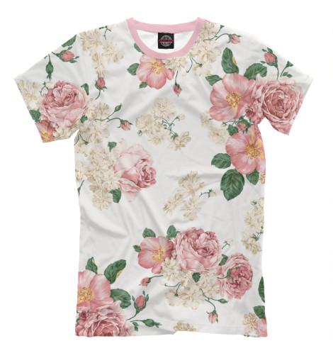 Купить Мужская футболка Цветы CVE-869690-fut-2