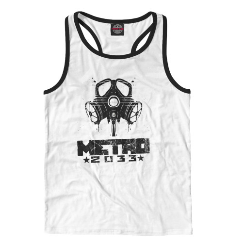 Майка борцовка Print Bar Metro 2033 black l майка борцовка print bar black metal ist krieg