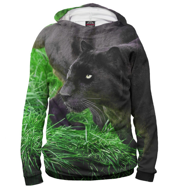 Купить Худи для девочки Пантера на траве HIS-712470-hud-1