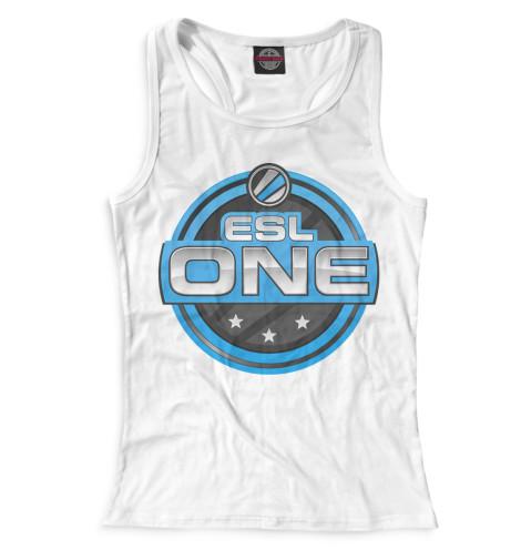 Женская майка-борцовка ESL One Logo White