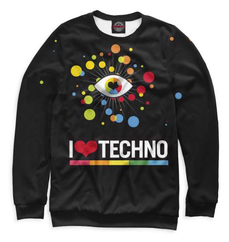 Свитшот Print Bar I Love Techno