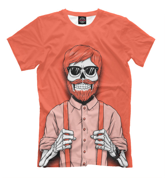 Купить Мужская футболка Скелет хипстер SKU-585934-fut-2