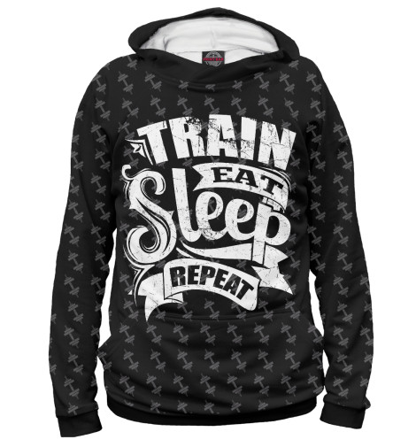 Худи Print Bar Train Eat Sleep Repeat майка print bar train eat sleep repeat
