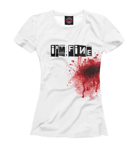 Фото - Женская футболка Blood [i'm fine] от Print Bar белого цвета