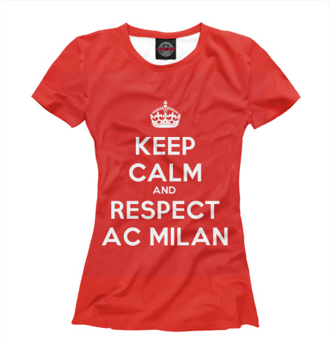 цена Футболка Print Bar Respect AC Milan онлайн в 2017 году