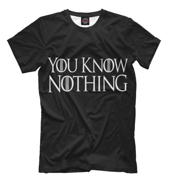 Купить Мужская футболка You Know Nothing IGR-578535-fut-2