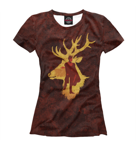 Фото - Женская футболка Король Джоффри от Print Bar белого цвета