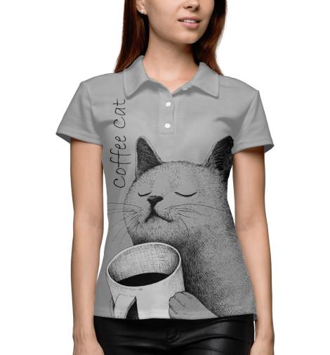 купить  Поло Print Bar Morning Cat  недорого