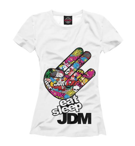Футболка Print Bar Eat Sleep JDM eat dirt