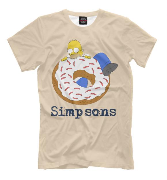 Купить Мужская футболка Гомер и бублик SIM-781589-fut-2