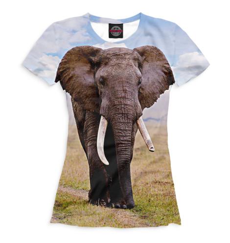 Женская футболка Слоны