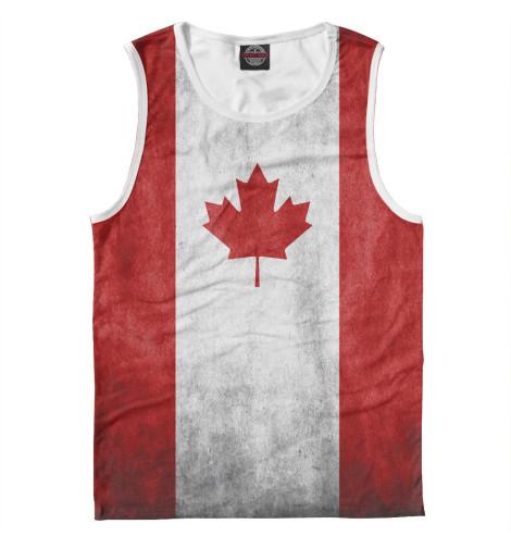 Майка Print Bar Флаг Канады флаг пограничных войск россии великий новгород