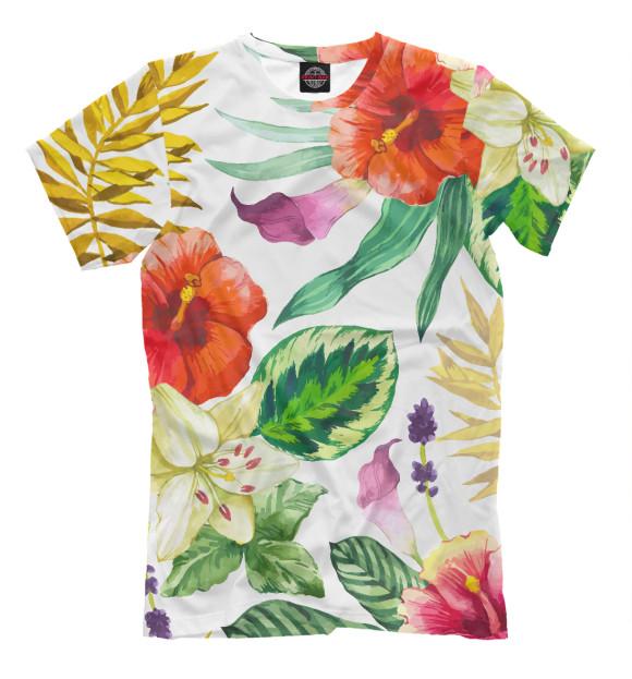 Купить Мужская футболка ЦВЕТЫ цветы CVE-270295-fut-2