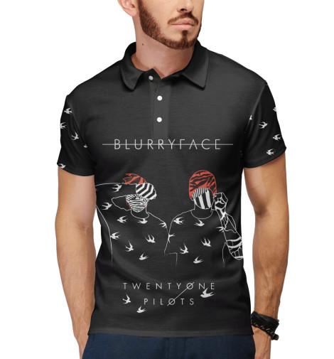 Поло Print Bar blurryface & birds поло print bar цветочный сад