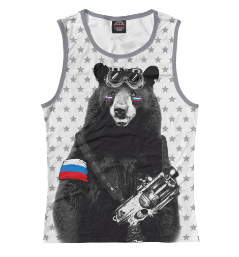 Майка Print Bar Армейский медведь