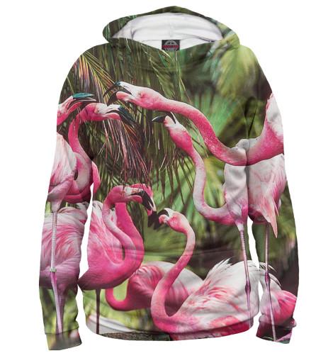 Женское худи Розовые фламинго