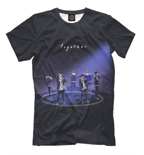 Фото - Мужская футболка BTS от Print Bar белого цвета
