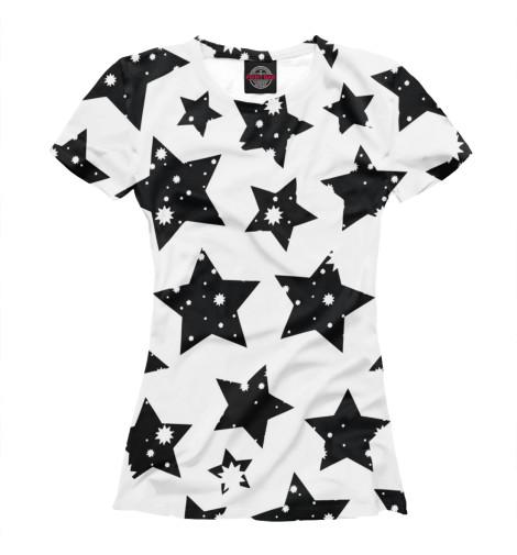 Футболка Print Bar Звездочки звездочки черные kostumerka
