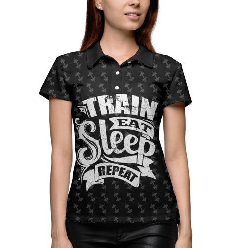 Поло Print Bar Train Eat Sleep Repeat майка print bar train eat sleep repeat