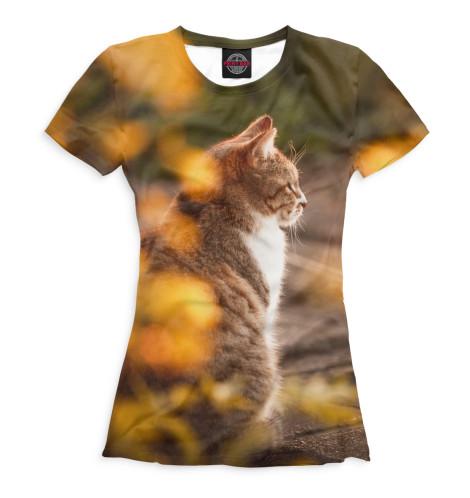Женская футболка Осенний кот