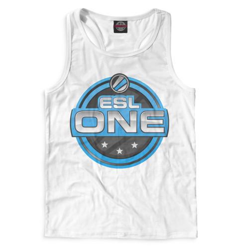 Мужская майка-борцовка ESL One Logo White