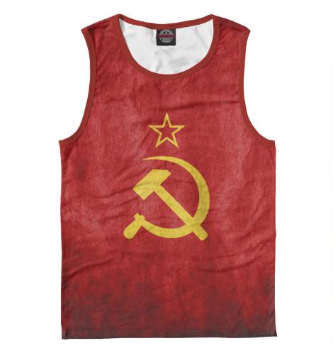 Майка Print Bar Флаг СССР флаг пограничных войск россии великий новгород