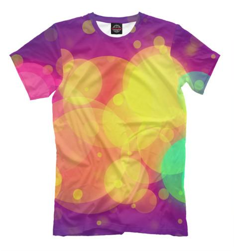 Футболка Print Bar Цветные блики футболка print bar цветные треугольники