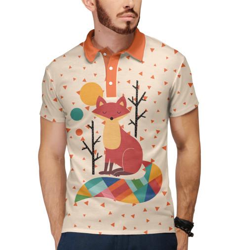 Поло Print Bar Осенняя лисичка