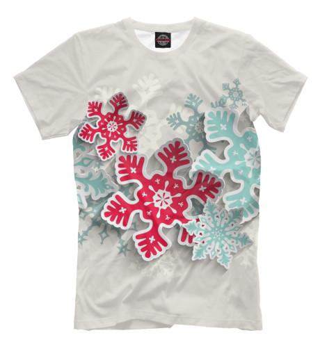 Футболка Print Bar Объёмные снежинки костюм маленькой снежинки 32