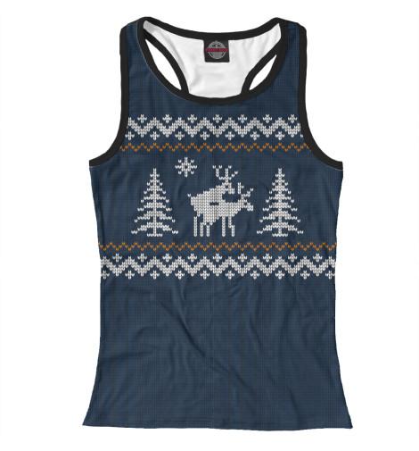 Майка борцовка Print Bar Неприличные Олени свитер олени уси пуси свитер олени