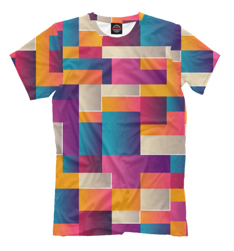 Футболка Print Bar Цветные кубики футболка print bar цветные треугольники