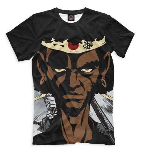 Мужская футболка Афросамурай