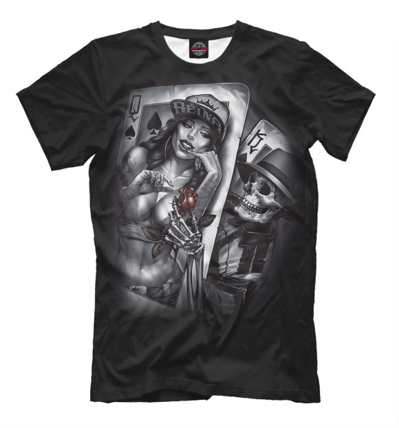 Купить Мужская футболка Дама пик HIP-891479-fut-2