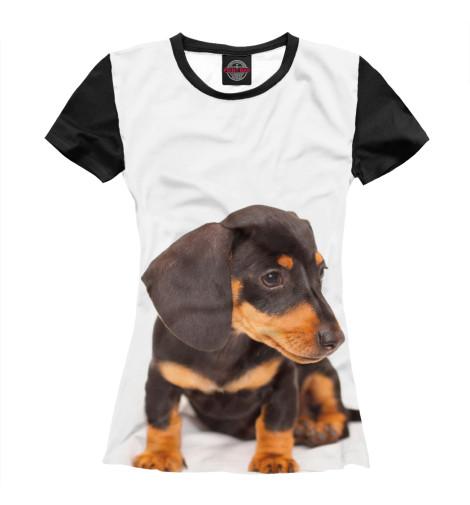 Купить Женская футболка Такса DOG-232547-fut-1