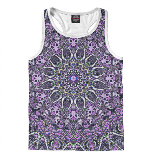 Майка борцовка Print Bar Purple mandala майка print bar purple mandala