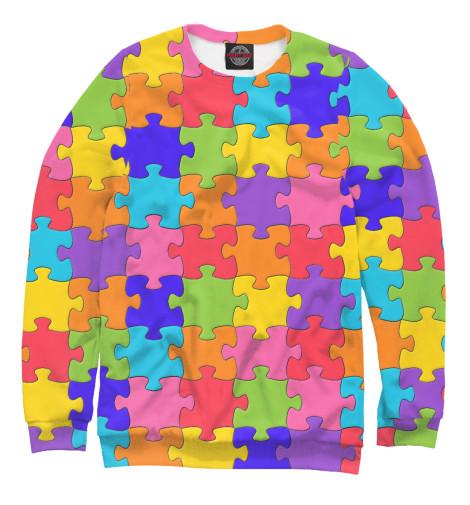 Купить Свитшот для девочек Разноцветный Пазл APD-575678-swi-1