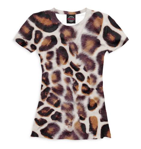 Женская футболка Дымчатый леопард