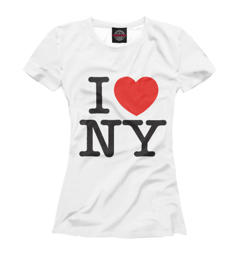 Футболка Print Bar I Love New York dkny love from new york for women где
