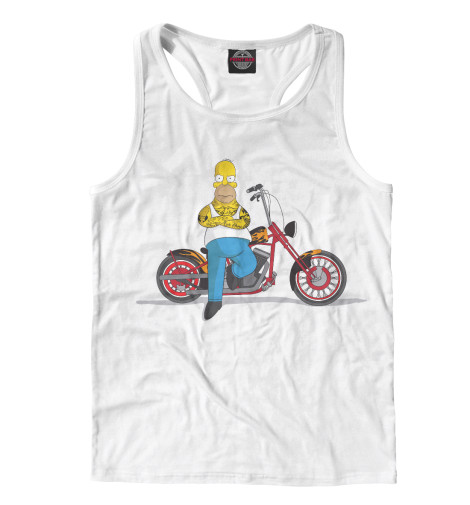 Майка борцовка Print Bar Homer and his Motorbike