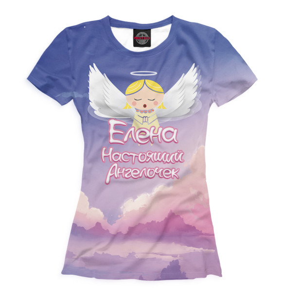 Купить Футболка для девочек Елена — настоящий ангелочек LEN-965346-fut-1
