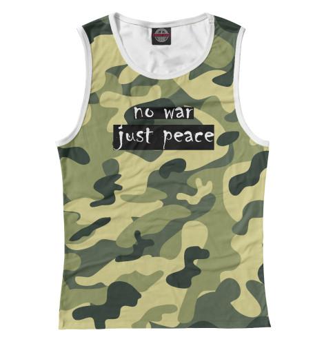 Майка Print Bar NO WAR. JUST PEACE. свитшот print bar no war just peace