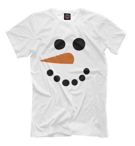 Футболка Print Bar Снеговик минимализм