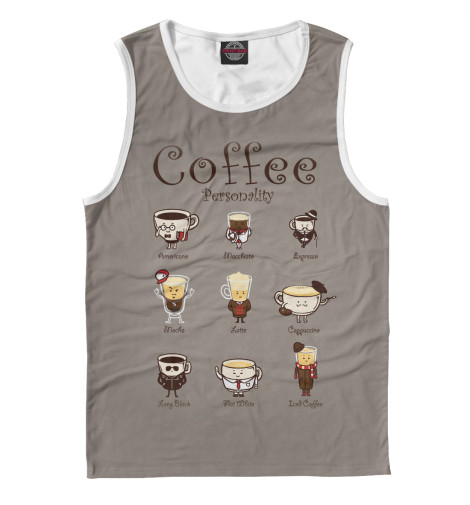 Майка Print Bar Coffee Personality