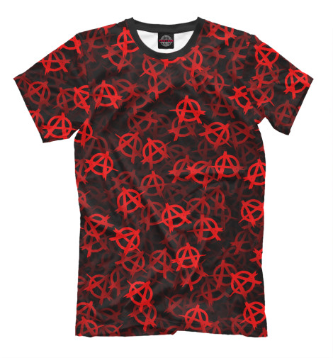 Фото - Мужская футболка Анархия (текстура) от Print Bar белого цвета