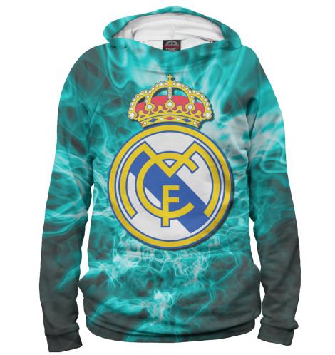 Мужское худи Герб Real Madrid<br><br>Размер INT: 2XS,XS,S,M,L,XL,XXL,XXXL,4XL,5XL,104,110,116,122,128,134,140,146,152,158<br>Цвет: Белый<br>Пол: Мужской<br>Материал: Хлопок