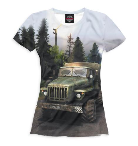 Женская футболка Spintires