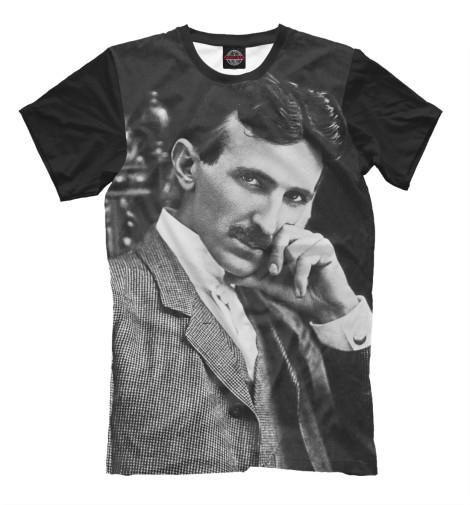 Футболка Print Bar Никола Тесла никола тесла – повелитель молний научное расследование удивительных фактов