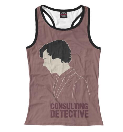 Майка борцовка Print Bar Consulting Detective detective cross