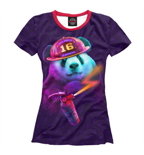 Футболка Print Bar Panda Fireman футболка print bar panda master