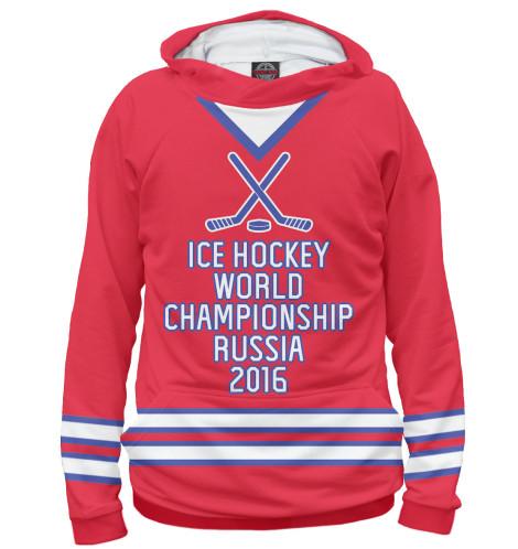Мужское худи ЧМ по хоккею 2016
